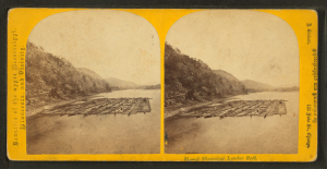 A_Mississippi_lumber_raft,_by_Carbutt,_John,_1832-1905